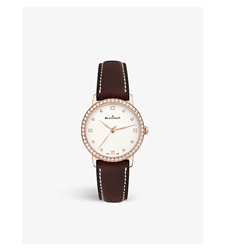 BLANCPAIN 6104298755A 18ct rose gold and diamond watch