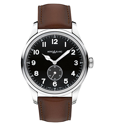 MONTBLANC 112638 1858 stainless steel watch