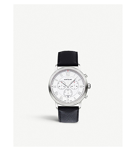 MONTBLANC 114339 tradition stainless steel watch