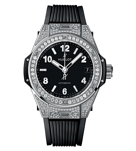 HUBLOT 465.SX.1170.RX.1604 big bang one clic pave watch