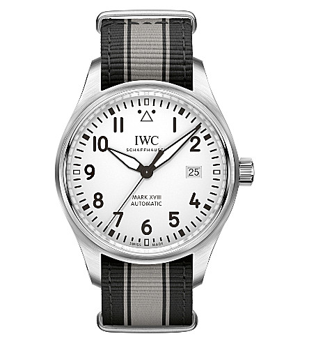 IWC SCHAFFHAUSEN Pilot's Mark XVIII stainless steel watch