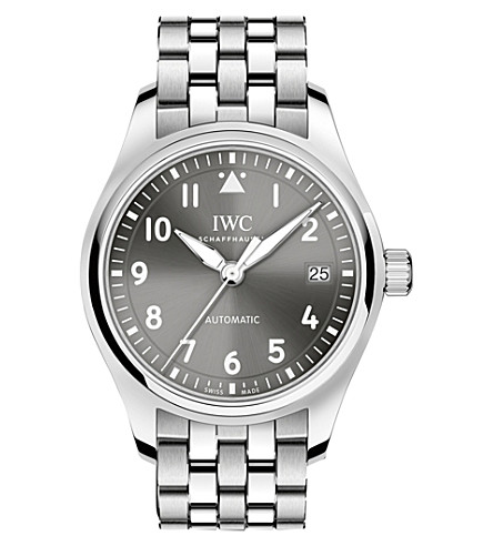 IWC Pilot's 36 stainless steel watch