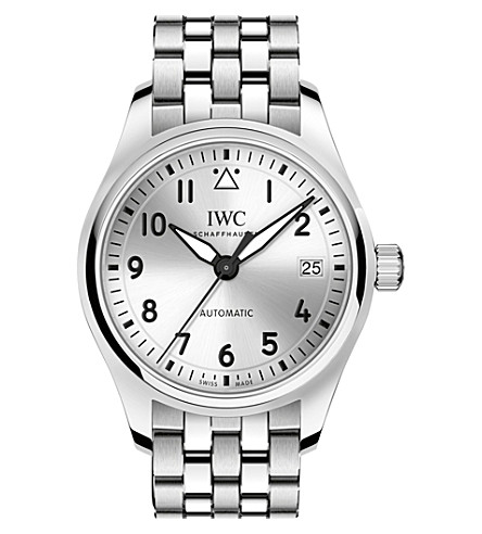 IWC SCHAFFHAUSEN Pilot's 36 stainless steel watch