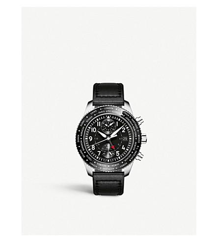 IWC SCHAFFHAUSEN IW395001 pilot timezoner calfskin watch
