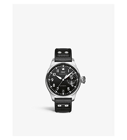 IWC SCHAFFHAUSEN IW500912 Pilot leather and stainless steel watch