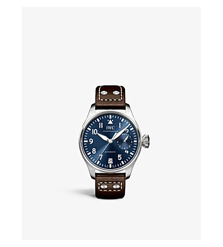 IWC SCHAFFHAUSEN IW500916 Pilot leather and stainless steel watch