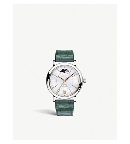 IWC SCHAFFHAUSEN IW459007 Portofino alligator leather and diamond automatic watch