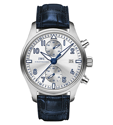 IWC SCHAFFHAUSEN IW387812 Pilot's alligator-leather watch