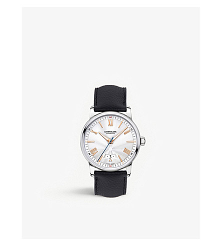 MONTBLANC 114841 4810 stainless steel, red gold and leather watch