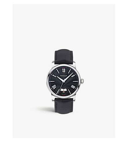 MONTBLANC 115122 4810 stainless steel, rhodium and leather watch