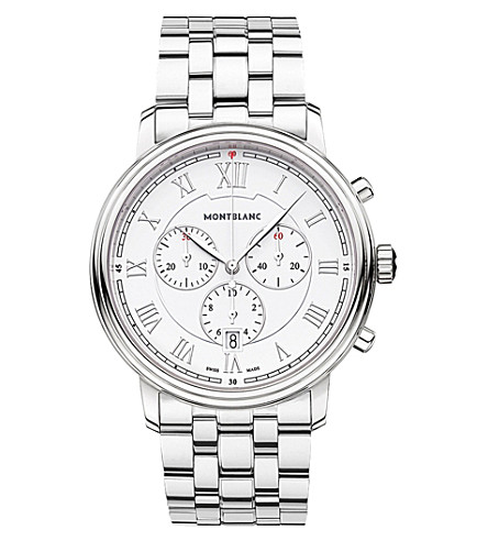 MONTBLANC 114340 Tradition stainless steel chronograph watch