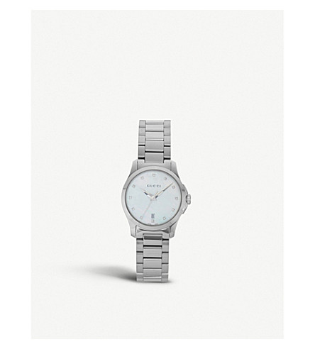 GUCCI YA126542 Mother of Pearl G Timeless watch