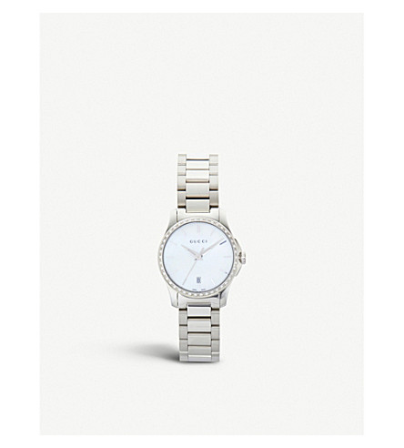 GUCCI YA126543 Mother of Pearl G Timeless watch