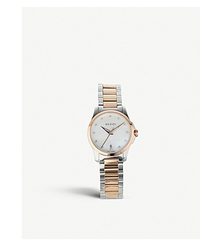 GUCCI YA126544 Mother of Pearl G Timeless watch