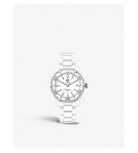 TAG HEUER WAY1396.BH0717 Aquaracer diamond ceramic watch