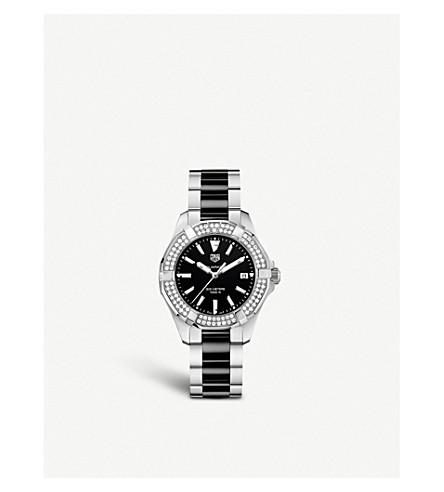 TAG HEUER WAY131E.BA0913 Aquaracer stainless steel diamond and ceramic watch