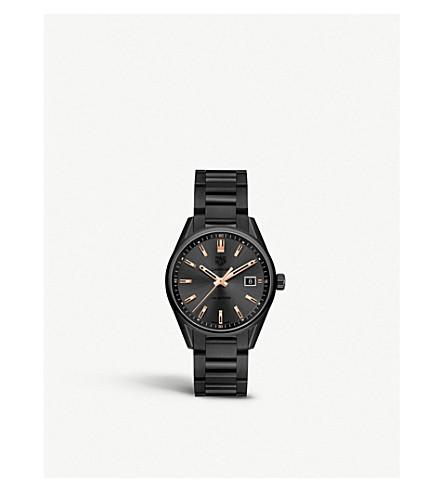 TAG HEUER WAR1113.BA0602 Carrera rose gold-plated and titanium watch