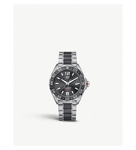 TAG HEUER WAZ2011。BA0843 配方1不锈钢和陶瓷手表