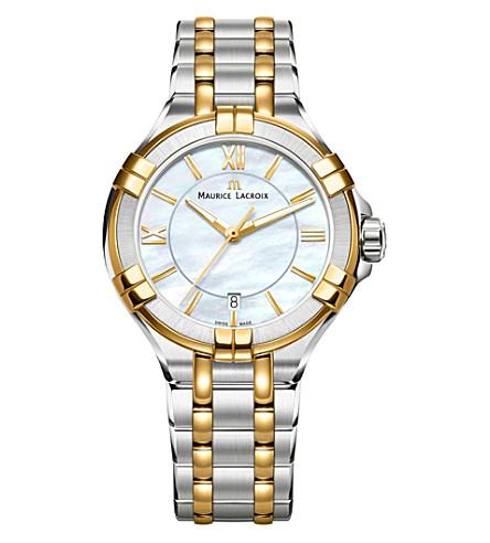 MAURICE LACROIX AI1006-PVY13-160-1 Aikon 不锈钢和珍珠母手表