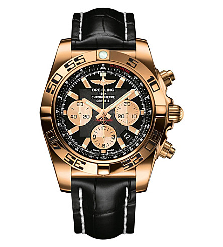 BREITLING Chronomat rose gold watch