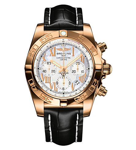 BREITLING Hb0110ae/a698 chronomat 18ct rose gold watch