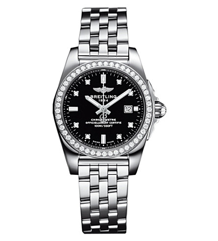 BREITLING Galactic 36 Automatic stainless steel and diamond watch