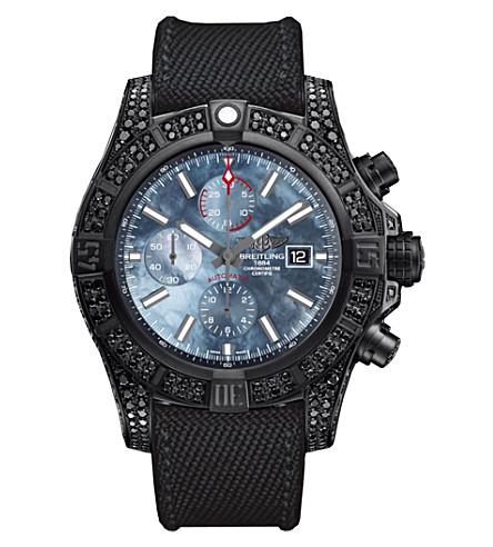 BREITLING M13371BU|BE52|264S+M20DSA.2 Avenger Bandit titanium and diamond watch