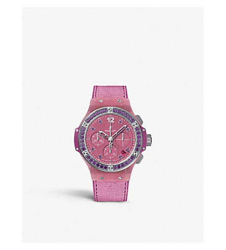 HUBLOT 341.XP.2770.NR.1205 big bang purple linen watch