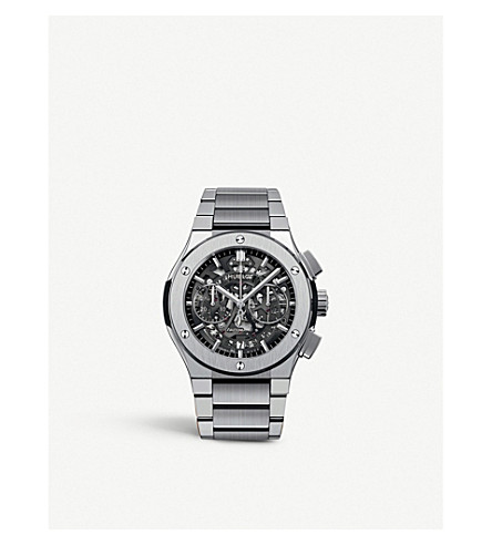 HUBLOT 528.nx.0170.nx classic aerofusion chronograph titanium bracelet watch