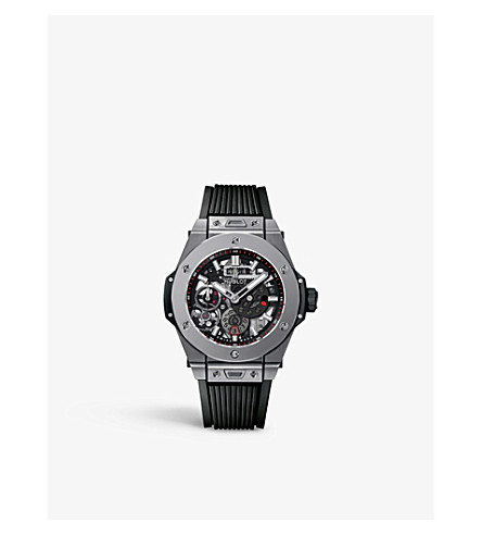 HUBLOT 414.ni.1123.rx meca-10 titanium watch
