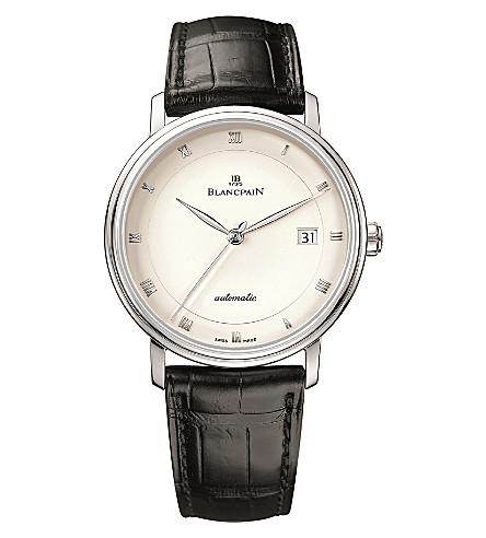 BLANCPAIN 6223-1543-55A Villeret 鳄鱼皮和不锈钢腕表
