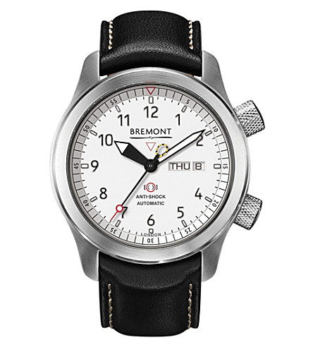 BREMONT MB11 WH Martin Baker stainless steel and leather watch