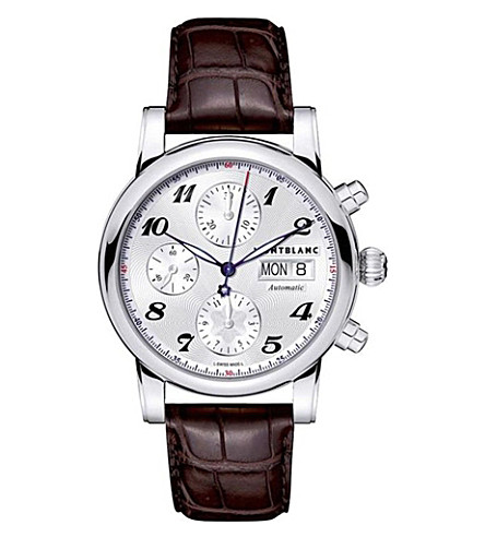 MONTBLANC 106466 Star stainless steel and alligator leather watch