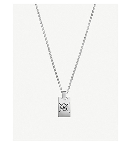 GUCCI GucciGhost sterling silver skull necklace