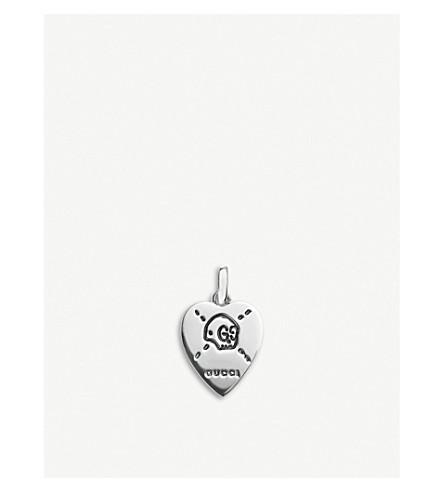 GUCCI GucciGhost sterling silver heart pendant