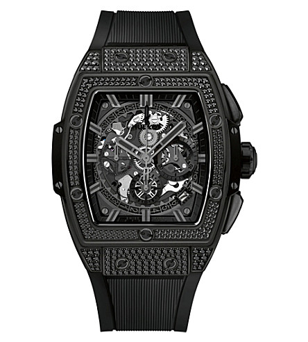 HUBLOT 641.CI.0110.RX.1700 Spirit of Big Bang All-Black pavé chronograph watch