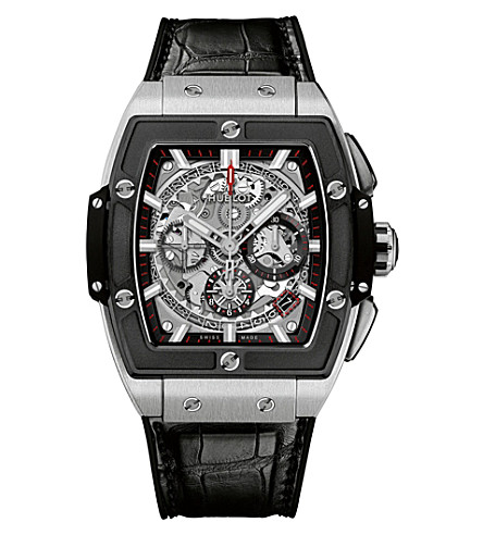 HUBLOT 641.NM.0173.LR Big Bang Spirit of Titanium Ceramic and leather chronograph watch