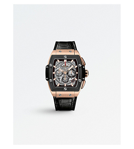 HUBLOT 601.OM.0183.LR Spirit of Big Bang King Gold Ceramic rose gold and alligator leather watch