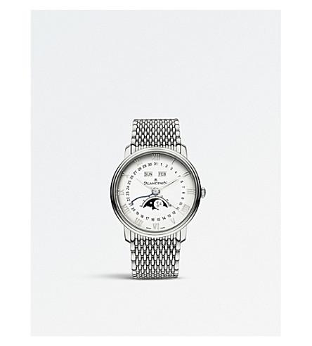 BLANCPAIN 6654-1127-MMB Villeret 不锈钢 moonphase 手表