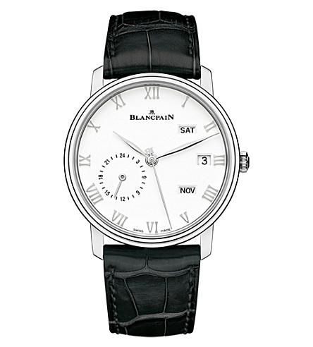BLANCPAIN 6670-1127-55B Villeret stainless steel manual alligator strap watch