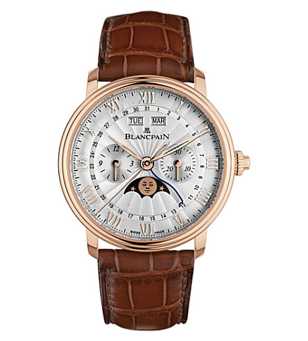 BLANCPAIN 6685-3642-55B Villeret 18ct rose-gold automatic chronograph watch