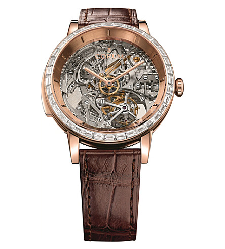 CORUM Bubble Minute Repeater 18ct rose-gold and leather watch