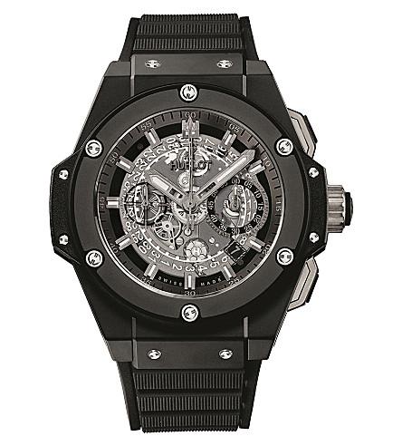 HUBLOT 701.CI.0170.RX King Power Unico Black Magic ceramic watch