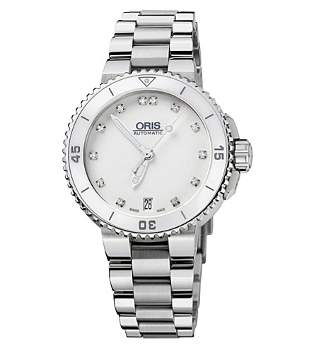 ORIS 73376524191mb Diving stainless steel and diamond watch (White