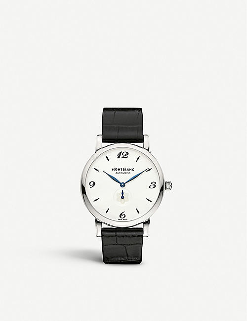 MONTBLANC 107073C Star stainless steel and leather watch