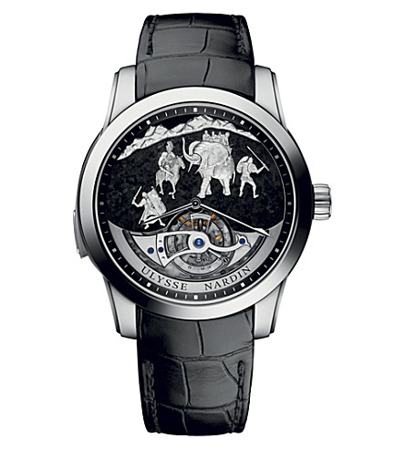 ULYSSE NARDIN Hannibal Minute Repeater platinum and leather watch