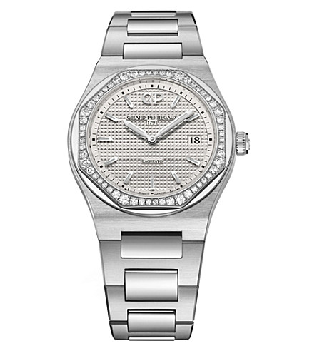 GIRARD-PERREGAUX 80189D11A131-11A Laureato stainless steel and diamond watch