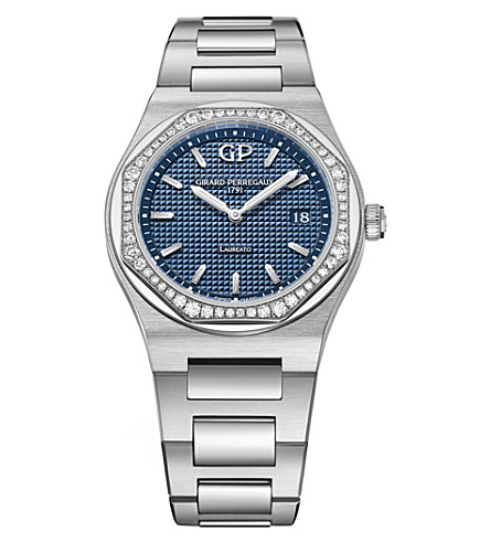 GIRARD-PERREGAUX 80189D11A431-11A Laureato stainless steel and diamond watch