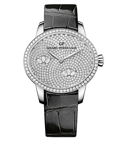 GIRARD-PERREGAUX 80489D53A1B1-CK6A Cat's Eye alligator-leather and diamond watch