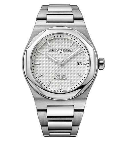 GIRARD-PERREGAUX GP81000-11-131-11A Laureato stainless steel watch